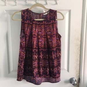 Anthropologie Flowing sleeveless shirt Small